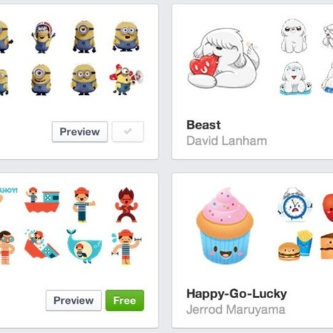 Facebook Stickers Now Available on the Web | All-in-One Social Media News | Scoop.it