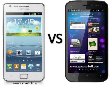Samsung Galaxy S II Plus vs Micromax Canvas 2 A110 Comparison | Specifications of Smartphones | Scoop.it
