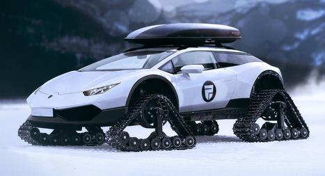 Une Lamborghini Huracan pour la piste… de ski ! | Neige et Granite | Scoop.it