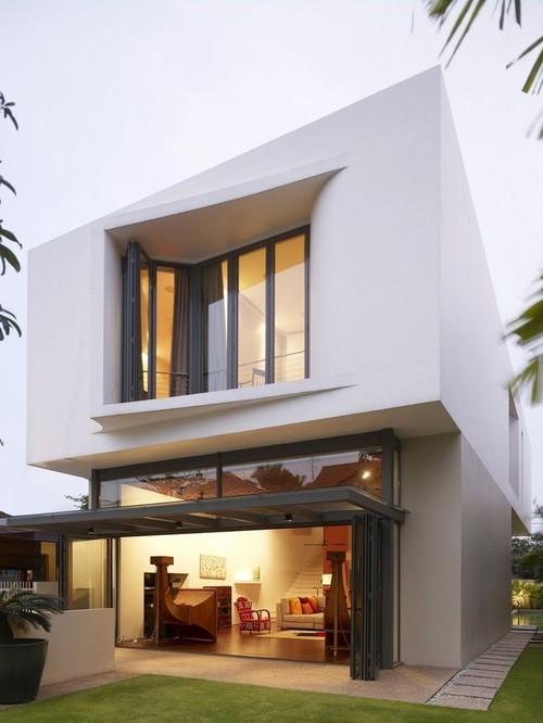 Jolie maison contemporaine acoustic alchemy par hyla for Jolie maison moderne