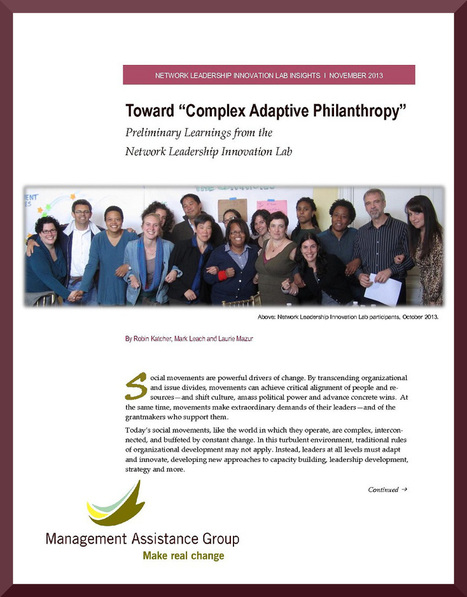 'Complex Adaptive Philanthropy' | Network Leadership | Scoop.it