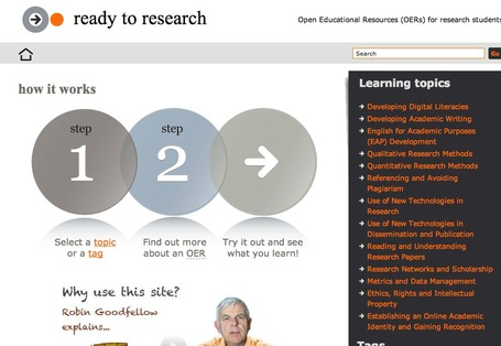 Ready to Research | Open Educational Resources (OERs) for research students | elearning&knowledge_management | Scoop.it