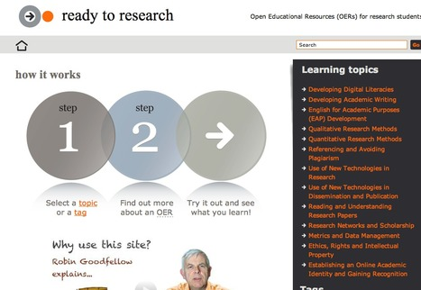 Ready to Research | Open Educational Resources (OERs) for research students | Era Digital - um olhar ciberantropológico | Scoop.it
