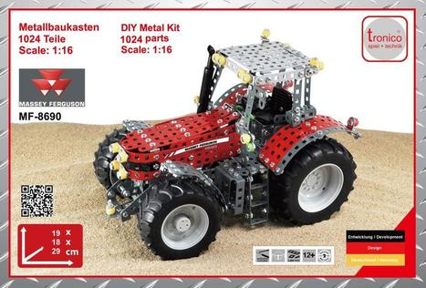 Massey Ferguson 8690 tractor – DIY metal model kit | Heron | Scoop.it