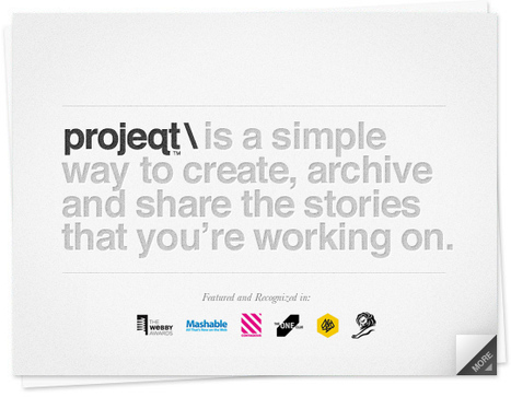 Free Technology for Teachers: Projeqt - Create Visual Stories from Your Digital Content | Technology for classrooms | Scoop.it