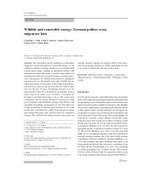 Wildlife and renewable energy: German politics cross migratory bats | Bat Biology and Ecology | Scoop.it
