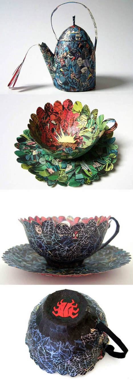 Old books are given new life as teacups and saucers | Creatively Teaching: Arts Integration | Scoop.it