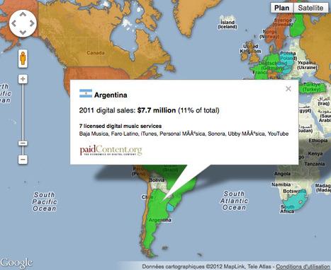 The world's hottest digital markets: a music map | MusIndustries | Scoop.it