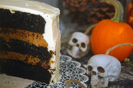 Chocolate Pumpkin Layer Cake for a Halloween #HolidayFoodParty   Halloween Treats #HolidayFoodParty   Scoop.it