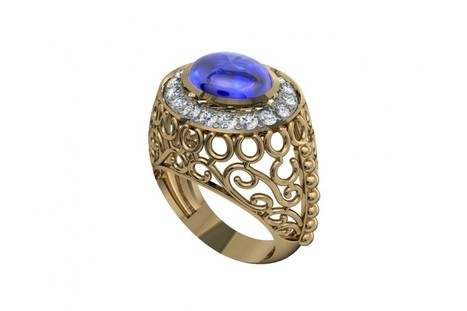 Buy Victoria Blue Sapphire | Diamond Solitaire Ring | Scoop.it