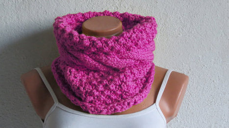 Chunky Cable Knit Cowl Scarf, Cozy Scarf Pink, Cable Knit Neck Warmer, Pink SCARVES, Winter Accessory Woman, Teens, Gift for Her | fashion | Scoop.it