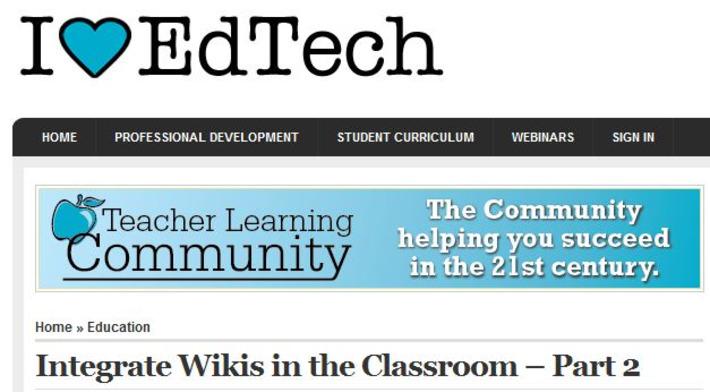 12 manieren om Wiki's te gebruiken in de klas [Deel 2] | Edu-Curator | Scoop.it