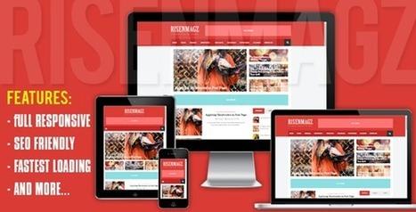 RisenMagz - Responsive Magazine Blogger Template - Themesnap   Blogger themes   Scoop.it