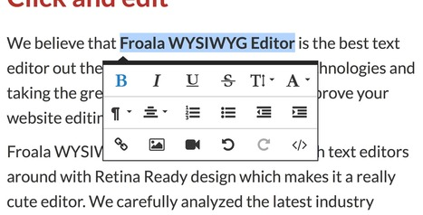 Froala WYSIWYG Editor | Free for non-commercial | Bookmarks | Scoop.it
