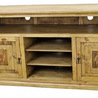 Entertainment Center with Copper Cross Rustic TV Stand