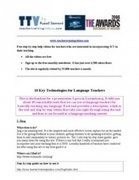 10 Great Tools for Language Teachers | Using Educational Technology for Adult ELT | Scoop.it