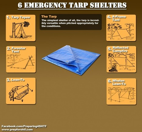 Six Emergency Tarp Shelters Infographic - Preparing For SHTF   Survival Infographics   Scoop.it