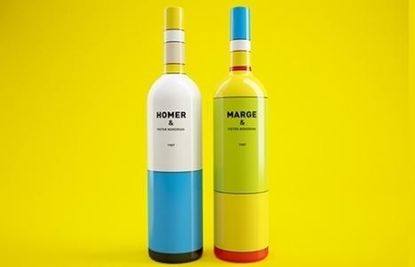 Juxtapoz Magazine - Mondrian and Homer Simpson Inspired Wine Bottles   Typography+Design   Scoop.it