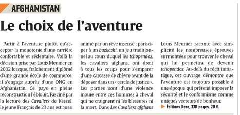 """L'Union - """"cet ouvrage démontre que l'aventure est toujours possible à une époque qui prétend imposer la sécurité et le conformisme""""   Louis Meunier   Scoop.it"""