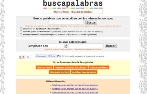 Buscapalabras, recurso para escritores y redactores de contenidos | Las TIC y la Educación | Scoop.it