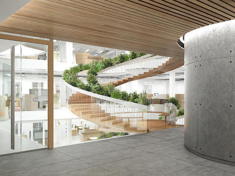 A Staircase With A Built-In Library, Garden, And Meeting Rooms | Environmental design | Scoop.it