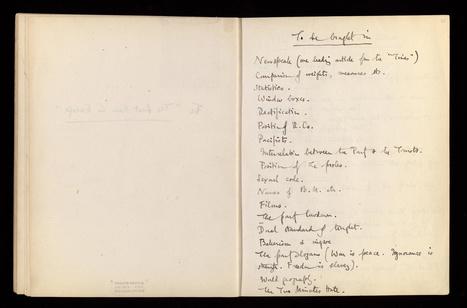 La British Library numérise et met en ligne gratuitement 300 documents inédits d'auteurs britanniques du 20ème, dont Virginia Woolf et Georges Orwell | Ressources d'autoformation dans tous les domaines du savoir  : veille AddnB | Scoop.it