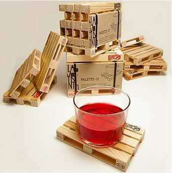 Mini paléts de madera como posavasos.   Mil ideas de Decoración   Accesorios decoración   Scoop.it