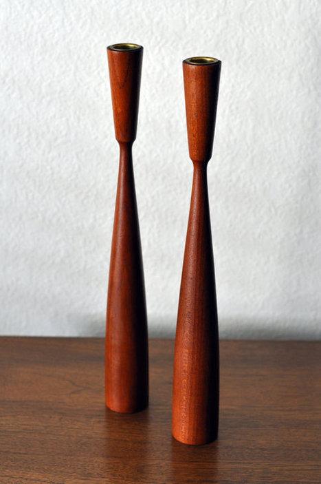 Vintage Mid Century Candle Sticks   Interior Design   Scoop.it