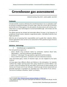 Greenhouse gas assessment in the humanitarian sector | Green humanitarian | Scoop.it