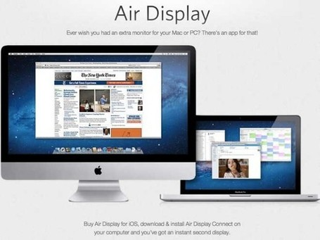 Utiliser l'iPad 3 comme second moniteur avec Air Display | INFORMATIQUE 2013 | Scoop.it