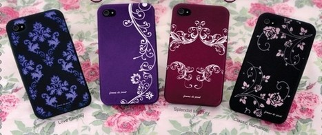 Graceful style purple phone4/4s case with white plant paiting | Apple iPhone and iPad news | Scoop.it