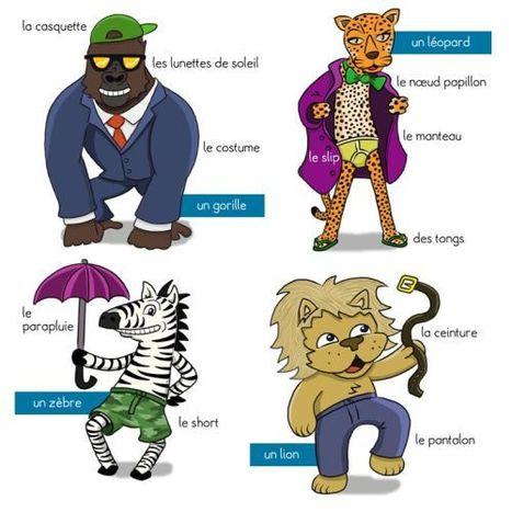 Les animaux et les vêtements | FLE enfants | Scoop.it