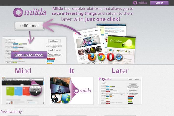 Miitla: weer een 'social bookmark'-site | Edu-Curator | Scoop.it