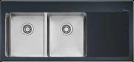Oliveri Sinks - Buy Oliveri Vetro Left Hand Bowl Sink SG071 at $2,396.33 Online | Custom Made Kitchens Renovation & Designs | Scoop.it