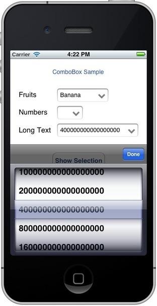 iPhone ComboBox - CodeProject | combo box | Scoop.it