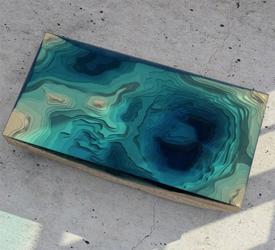 Abyss Table: Layers of Glass Recreate the Depths of the Sea | DCBs Scoop.It | Scoop.it