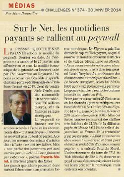 Sur le Net, les quotidiens payants se rallient au paywall | DocPresseESJ | Scoop.it