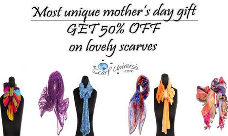 Mothers Day Sale! Save 50%. Free Shipping, Great Gift | scarfuniverse | Scoop.it