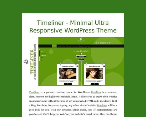 Timeliner - Minimal Ultra Responsive WordPress Theme - Tackk | Sketchthemes | Scoop.it