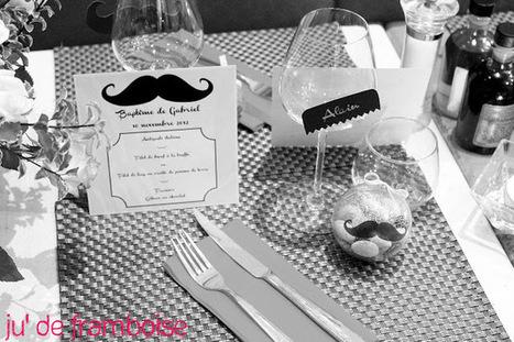Ju2Framboise : Le Baptême Moustache de Gabriel (avec tutos DIY) | Créations, Idées, DIY | Scoop.it