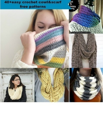 40+ Free Easy Crochet Cowl and Scarf Patterns | Crochet, Knit, Patterns, and Fiber | Scoop.it