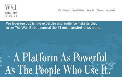 The Wall Street Journal Launches Native Ad Studio | Future of Advertising | Scoop.it