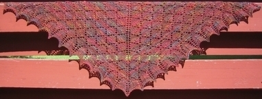 I'm Knitting As Fast As I Can: FOREST CANOPY SHOULDER SHAWL | Knitting | Scoop.it