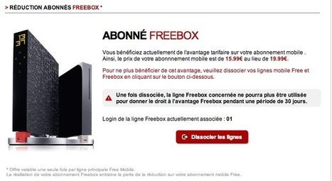 Nouveau: Free Mobile permet maintenant de dissocier un avantage Freebox | Nouvelles techno | Scoop.it