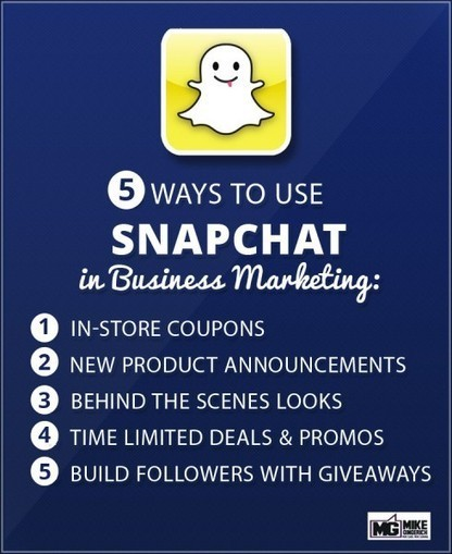 How to use Snapchat for Business Marketing | Mike Gingerich | Online Mobile Web Marketing | Scoop.it