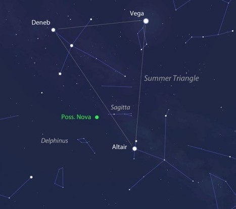 Bright New Nova In Delphinus — You can See it Tonight With Binoculars   Astronomy   Scoop.it