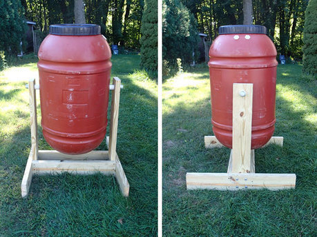 How to Make a Barrel Compost Tumbler - Preparing For SHTF | Sustain Our Earth | Scoop.it