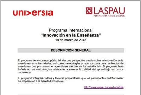 UNIVERSIA PERÚ: Programa Internacional - Innovación en la enseñanza - RedDOLAC - Red de Docentes de América Latina y del Caribe - | RedDOLAC | Scoop.it