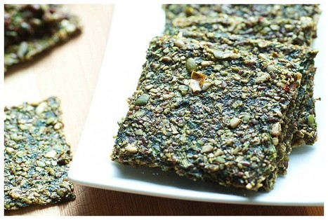 Raw Pumpkin Seed Crackers With Spinach [Vegan, Raw, Gluten-Free] | My Vegan recipes | Scoop.it