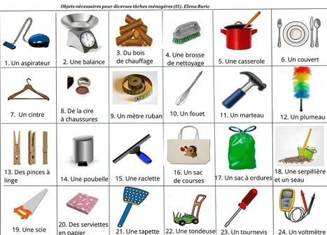 Les tâches ménagères. Diverses activités en lignes | ressources fle | Scoop.it